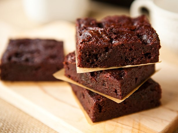 Boozy Raspberry Poke Brownies