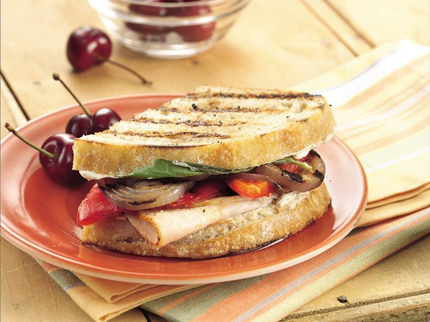 Grilled Veggie-Turkey Sandwiches recipe from Betty Crocker