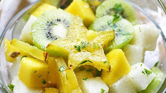 Jicama Lime Tropical Fruit Salad recipe - from Tablespoon!