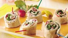 Turkey Club Tortilla Roll-Ups Recipe