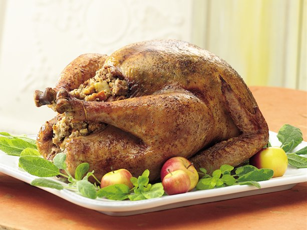 Honey Spice Roast Turkey with Apple Pecan Stuffing