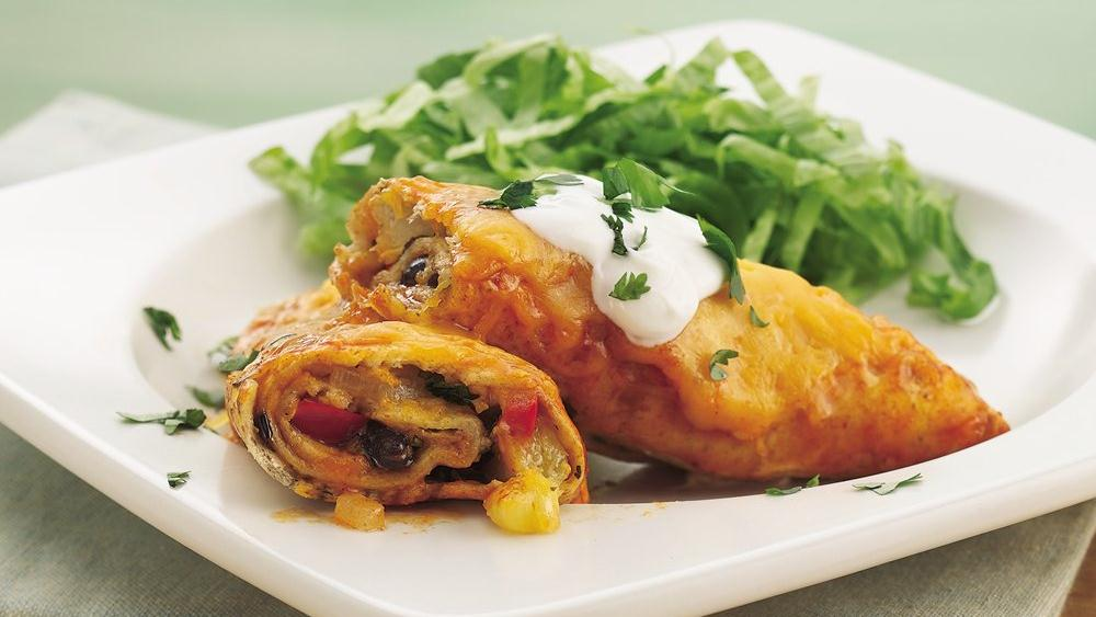 Pineapple-Black Bean Enchiladas