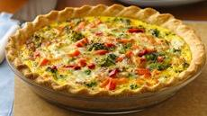 Italian Pepperoni-Vegetable Quiche Recipe