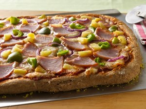 Hawaiian&#32;Whole&#32;Wheat&#32;Pizza