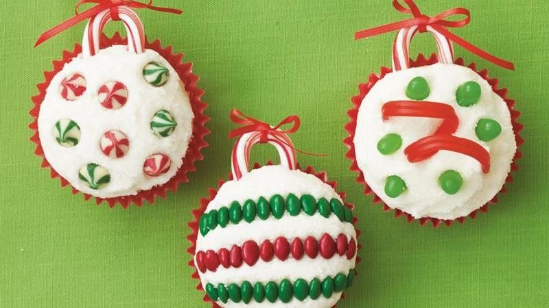 Holiday Ornament Cupcakes