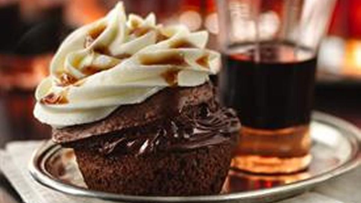 Boozy Bourbon Chocolate Cupcakes - Life Made Delicious