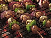 Grilled Sweet-and-Sour Meatball Kabobs