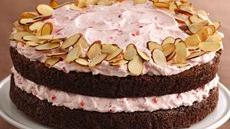 Almond Brownie-Cherry Mousse Torte Recipe
