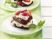 Brownie and Strawberry Shortcakes