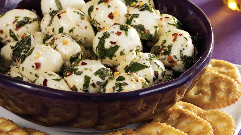 Marinated Cheese Balls