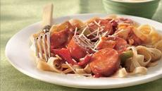 Sausage with Fettuccine Recipe