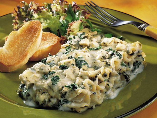 Image of Artichoke-spinach Lasagna, Betty Crocker