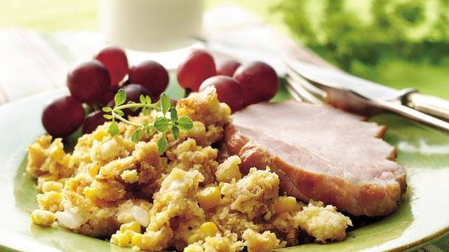 Smoked Pork Chops with Tex-Mex Cornbread Stuffing Recipe