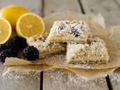 Lemon and Blackberry Crumb Bars