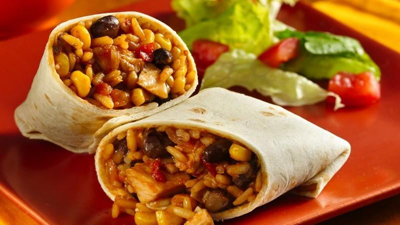 Chicken Burritos Recipe — Dishmaps