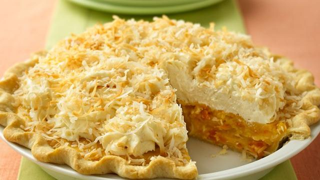 Image of Apricot-coconut Cream Pie, Pillsbury