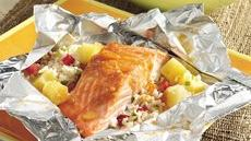 Grilled Caribbean Salmon Packs Recipe