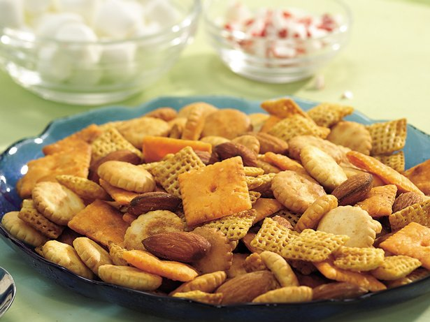 Slow Cooker Smoky Snack Mix