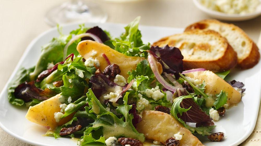Caramelized Pears and Gorgonzola Salad recipe from Pillsbury.com