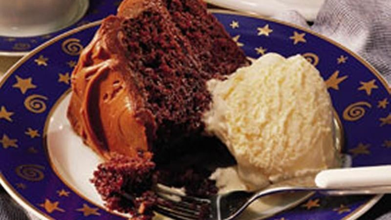 Best Chocolate Cake with Fudge Frosting