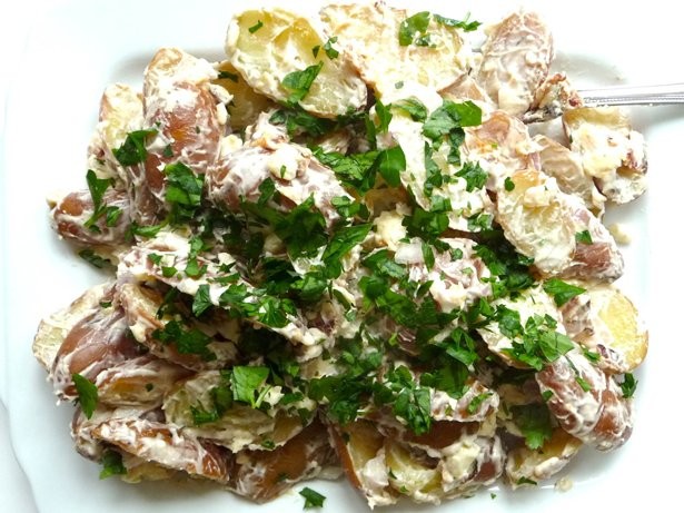 Fingerling Potato Salad with Bacon and Gorgonzola