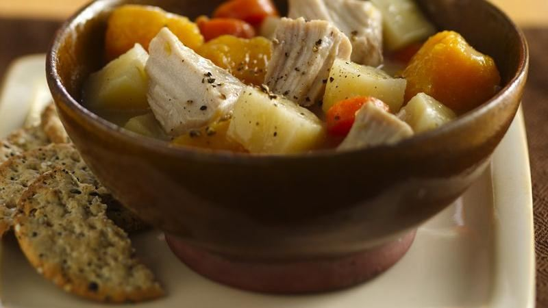 Slow-Cooker Pork and Veggie Stew recipe from Betty Crocker