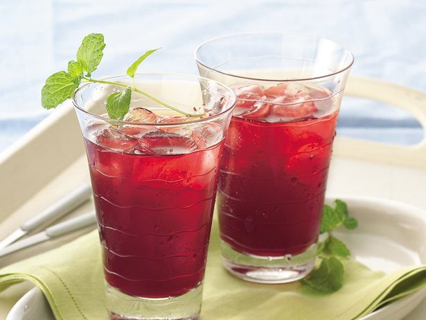 Cranberry-Mint Iced Tea