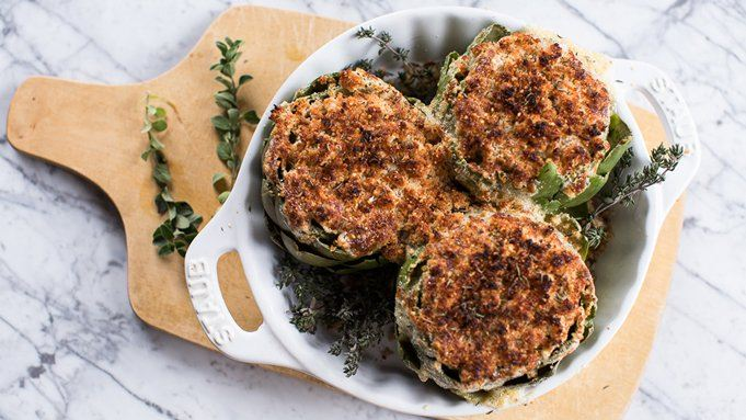 Brie-Stuffed Baked Artichokes recipe - from Tablespoon!