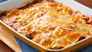 Easy Layered Beef Enchiladas