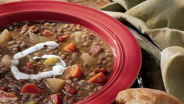 Lentil and Canadian Bacon Soup