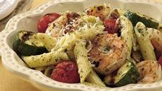 Grilled Pesto Shrimp with Pasta Recipe
