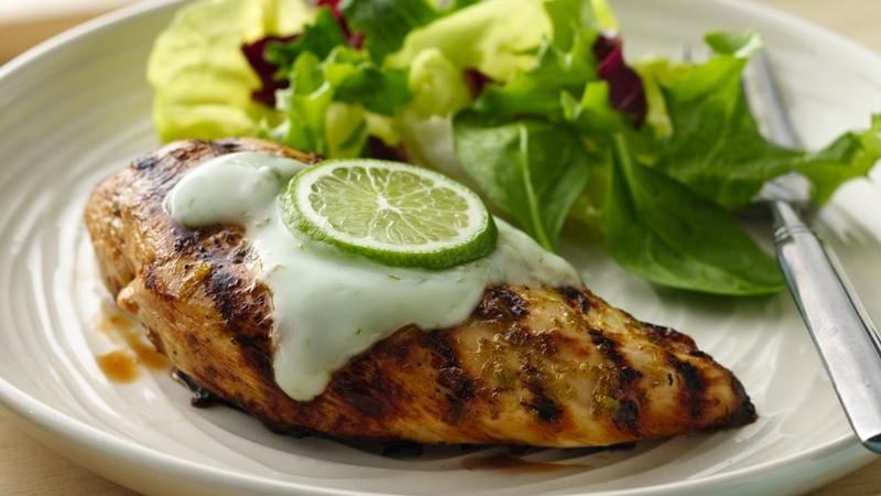 Grilled Margarita Chicken with Yogurt Sauce recipe from Betty Crocker