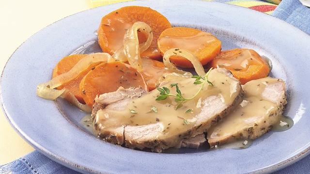 Slow Cooker Winter Pork Roast Dinner