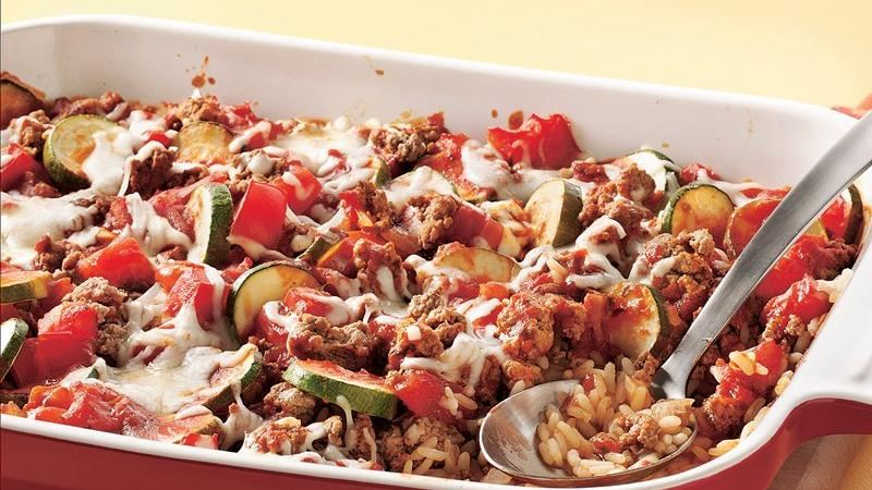 Cheesy Beef and Tomato Casserole