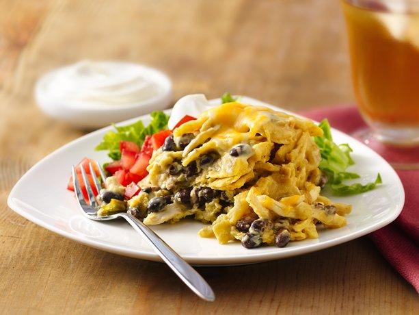 Slow-Cooker Green Chile-Chicken Enchilada Casserole