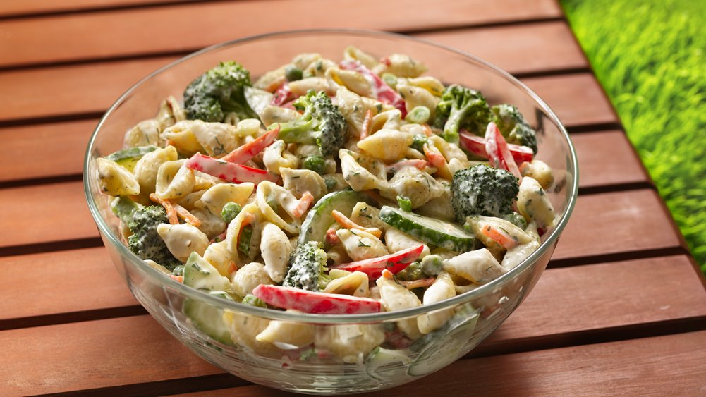 Garden Pasta Salad Recipe — Dishmaps