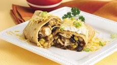 Chicken Chimichanga with Jalapeño Cream Recipe