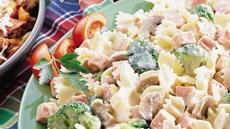 Creamy Bow Tie Pasta with Broccoli and Ham Recipe