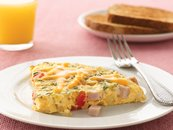 Canadian Bacon and Potato Frittata