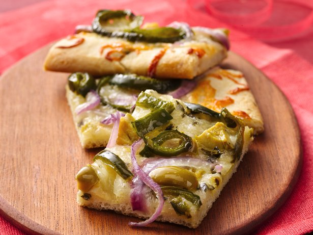 Chile and Olive Pizza Snacks