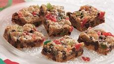 Chocolate Chip Fruitcake Bars Recipe
