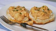 Creamy New England Eggs and Biscuits Recipe