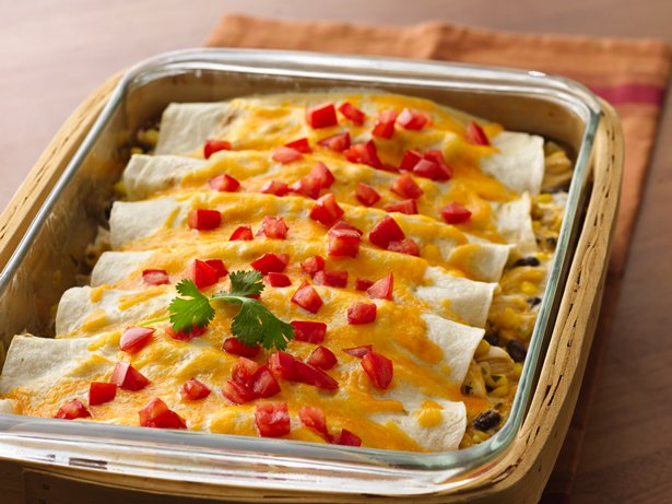 Creamy Chicken Chile Enchiladas