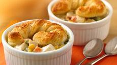 Mini Chicken Alfredo Pot Pies Recipe