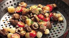 Grilled Veggie and Steak Appetizer Recipe