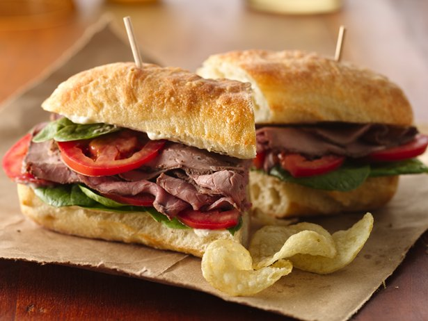 Garlic-Beef Sandwiches