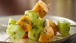 Gluten Free Mojito Melon Kabobs