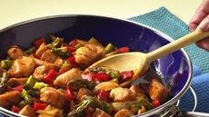 Halibut and Asparagus Stir-Fry Recipe