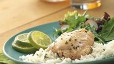Slow Cooker Lime Garlic Chicken with Rice Recipe