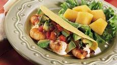 Fiesta Shrimp Tacos with Cucumber Salsa Recipe